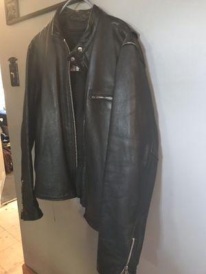 Leather motorcycle jacket for Sale in Burlington, NJ