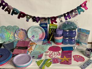 Mermaid birthday decorations and supplies for Sale in Struthers, OH