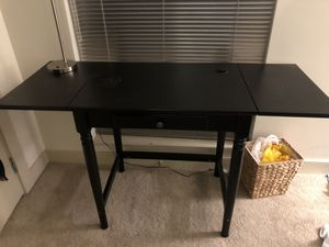 Extendable desk with shelf (lamp included) for Sale in Washington, DC