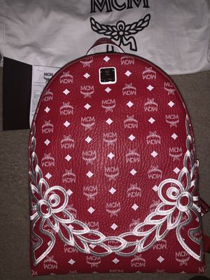 MCM red white backpack new authentic retail $895 for Sale in Reisterstown, MD