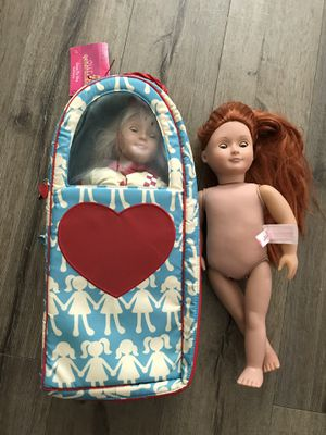 American girl dolls and carrier for Sale in Glendora, CA