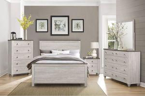 3 PCS QUEEN BEDROOM SET: QUEEN BED FRAME, DRESSER, NIGHTSTAND, MIRROR for Sale in Fremont, CA