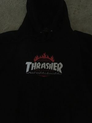 Thrasher x HUF collaboration hoodie for Sale in Cedar Hill, TX