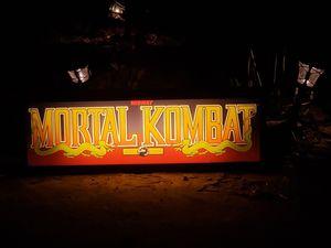 MORTAL KOMBAT VINTAGE ARCADE MARQUEE LIGHT BOX for Sale in Berlin, NJ