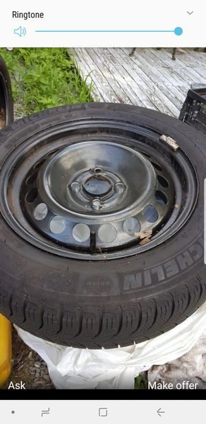 4 lug winter rims with tires for Sale in Maynard, MA