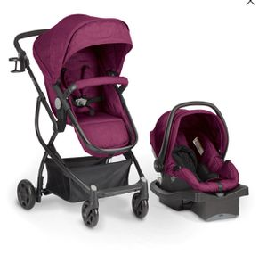 Urbini Omni Plus 3 in 1 Travel System Special Edition, Raspberry Fizz for Sale in St. Louis, MO