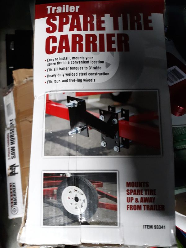 Spare tire carrier/mount for trailer, car or truck