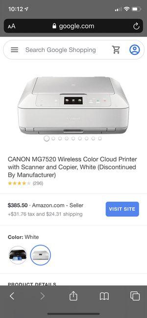 Canon MG7520 printer white never used $150.00 for Sale in Hesperia, CA