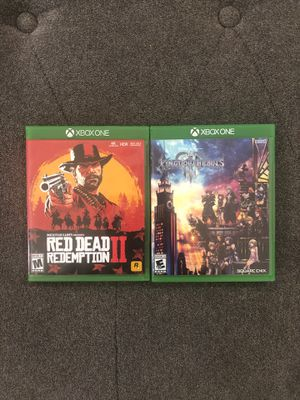 Red Dead Redemption 2 & Kingdom Hearts 3 Xbox One for Sale in Aurora, CO
