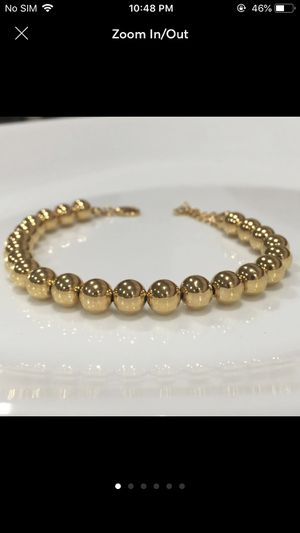 Gold plated beads balls bracelet for Sale in Silver Spring, MD