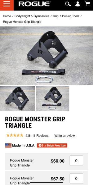 Rogue Fitness Monster Triangle Grip for Sale in San Diego, CA