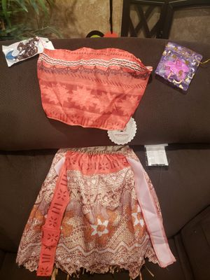 Moana costume- kids size 5/6 for Sale in Compton, CA