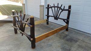 Hickory log bed frame for Sale in Manchester, MD