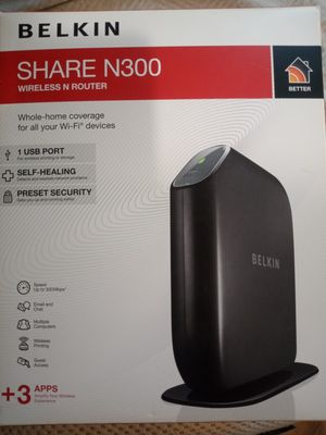 Belkin Share N300 Wireless Router for Sale in Indianapolis, IN