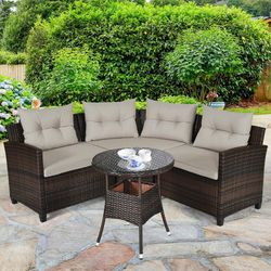 Outdoor Patio Furniture 4 Piece Set Wicker Sofa Set New In The Box Free Shipping for Sale in Lehi,  UT