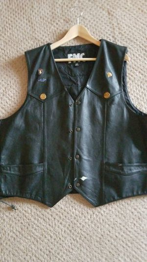 Motorcycle Vest. Brothers forever patch on the back for Sale in Petoskey, MI