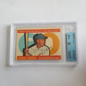 Ernie Banks 1960 Topps All Star Autographed Baseball Card for Sale in Marietta, GA