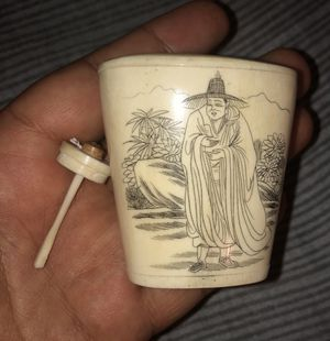 ANTIQUE HAND CARVED CHINESE SNUFF BOTTLE for Sale in Bronx, NY