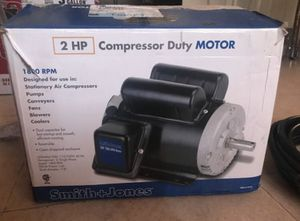 2hp smith and jones compressor duty motor for Sale in Norco, CA