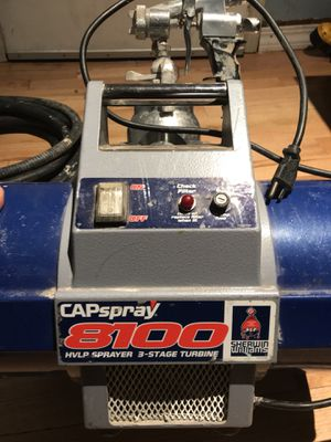 Cap Spray HVLP sprayer with cup guns hose etc... for Sale in Boston, MA