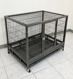 """New in box $140 Heavy Duty 42x30x34"""" Large Dog Cage Pet Kennel Crate Playpen w/ Wheels for Large Pets for Sale in South El Monte, CA"""