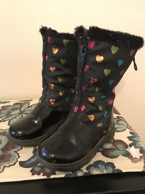 Girls rain/light snow boots sz12 for Sale in Happy Valley, OR