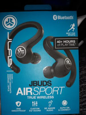JLAB bluetooth JBud Airsport true wireless earbuds for Sale in Suwanee, GA