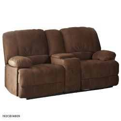 AC Pacific Kevin 73 in. Brown Polyester 2-Seater Reclining Loveseat with Square Arms for Sale in Dallas,  TX