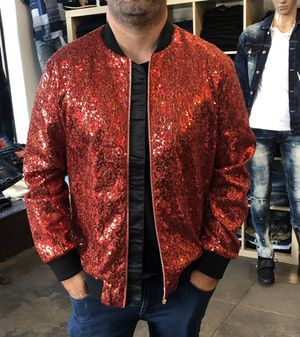 Men's sequins zip up bummer jacket new all sizes for Sale in Los Angeles, CA