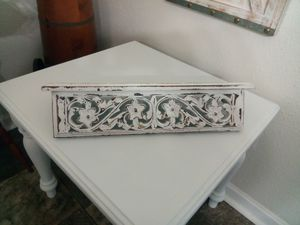 Small Shelf Distressed White for Sale in Charlotte, NC