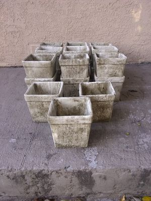 New 5 inch stone colored Flowering pots for Sale in Norwalk, CA