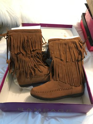 Rampage chestnut color boots size 7 1/2 for Sale in Archdale, NC
