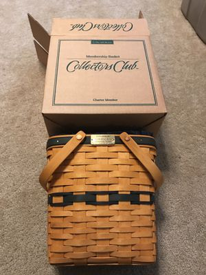 Longaberger 1996 charter club membership basket New in box for Sale in Alexandria, OH