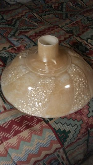Vintage Milkglass Erridessent Floor Lamp Shade . for Sale in St. Louis, MO