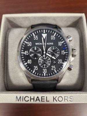 Michael Kors (MK8442) Black Leather Watch for Sale in Washington, DC