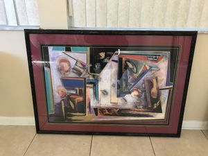 Art work Abstract Art professionally framed for Sale in Orlando, FL