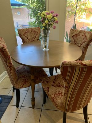 Kitchen table and 4 chairs. table leaf for Sale in Glendale, AZ