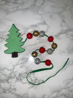 New Christmas Tree Lacing Toy with Ornaments Stocking Stuffer Gift Toddler for Sale in Tamarac, FL