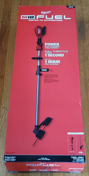 Milwaukee m18 fuel String Trimmer NUEVO!!!! NEW!!!! ONLY TOOL!!!! for Sale in Chicago, IL