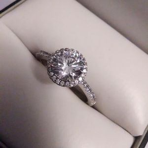 Sexy Devin Quality Right Sapphire Halo Engagement Ring 925 Sterling for Sale in Lombard, IL