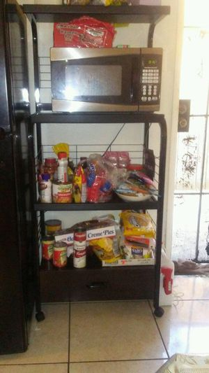 Microwave with rack for Sale in Lynwood, CA