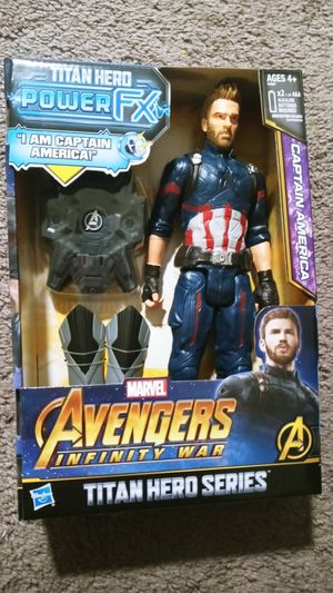 Brand new Titan hero Power FX Captain America Avengers Infinity War 12 inch figure for Sale in Essington, PA