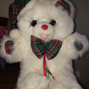 "Christmas White Plush Bear 12"" tall for Sale in Wilmington, OH"