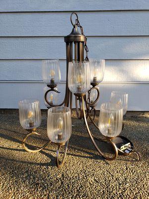 Brushed nickel 2 tier chandelier for Sale in Monroe, WA