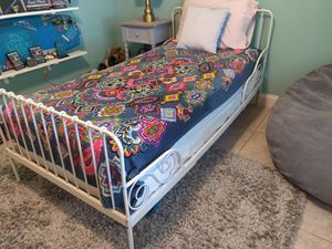 Twin bed frame and mattress - Ikea Minnen extendable for Sale in Winter Springs, FL