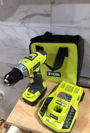 Ryobi two speed hammer drill with battery fast charger and case for Sale in Dearborn, MI