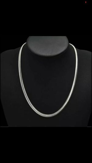 """Sterling silver plated 925 stamped 25"""" necklace chain for Sale in Silver Spring, MD"""