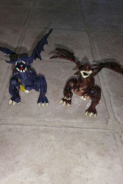 2 Fantasy Mythical Purple & Brown Dragons Action Figure Toys (6 points of articulations) for Sale in Lynnwood,  WA