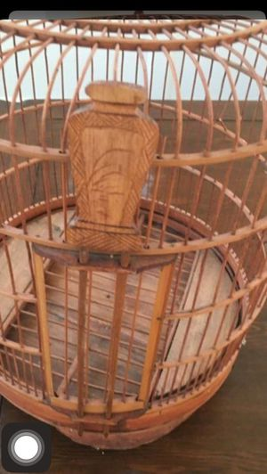 Handmade Bamboo bird cage for Sale in Perris, CA