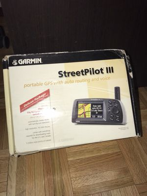 Garmin Deluxe StreetPilot III Color GPS 3 Chart Plotter Marine Auto Boat Car for Sale in New York, NY